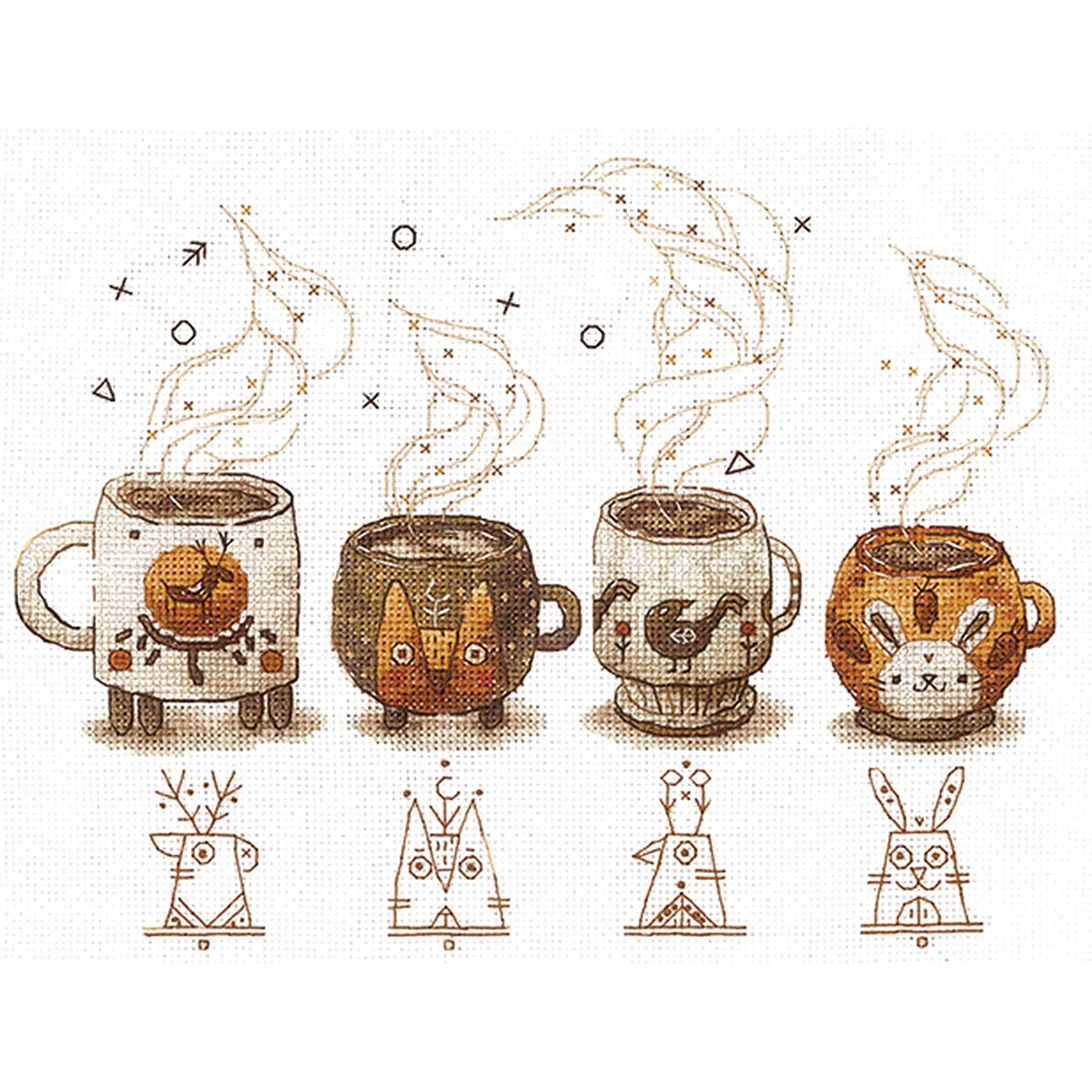 Х-05 Набор для вышивания 'Хранители кофе ' 22,5*17см