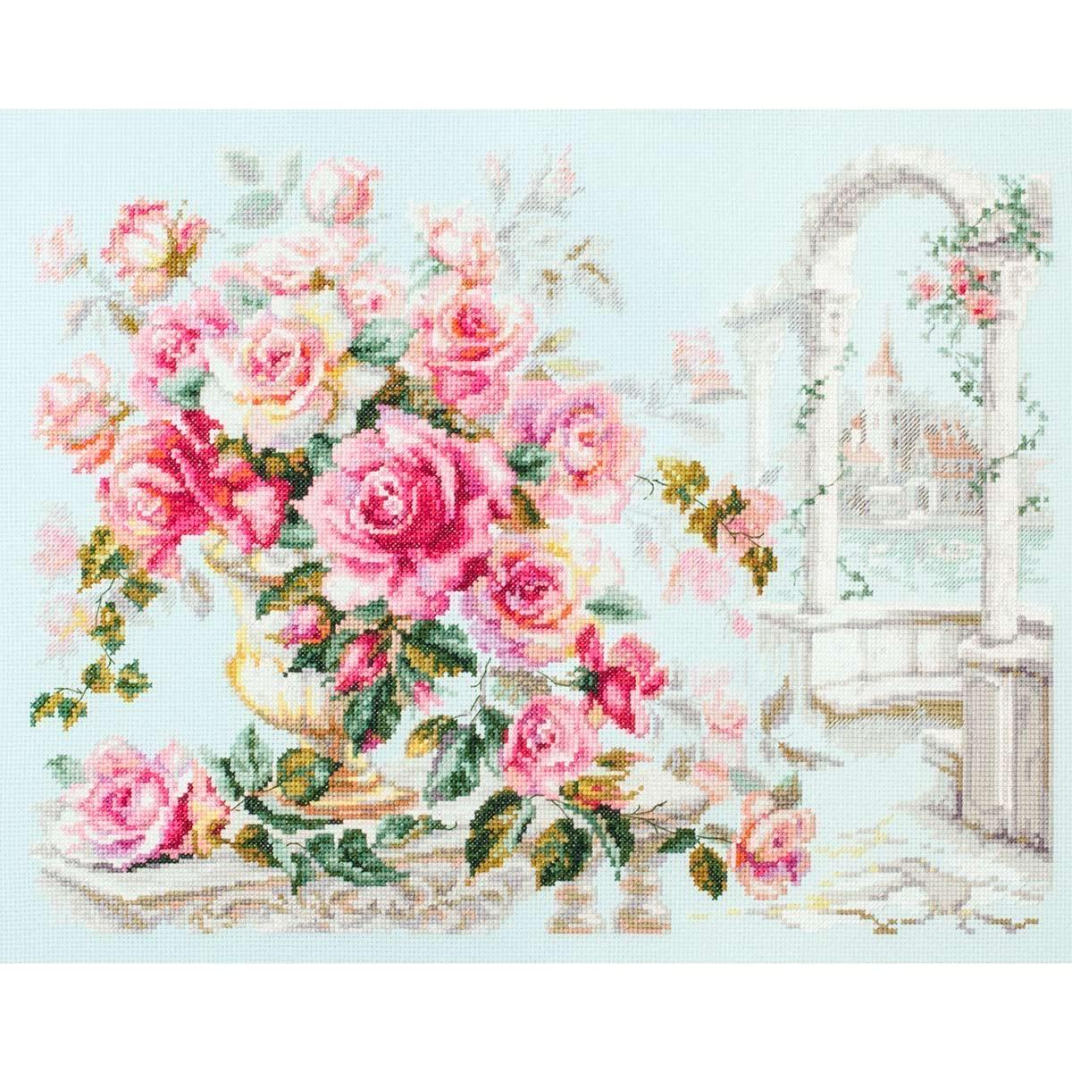 110-011 Набор для вышивания Чудесная игла 'Розы для герцогини'40*30см