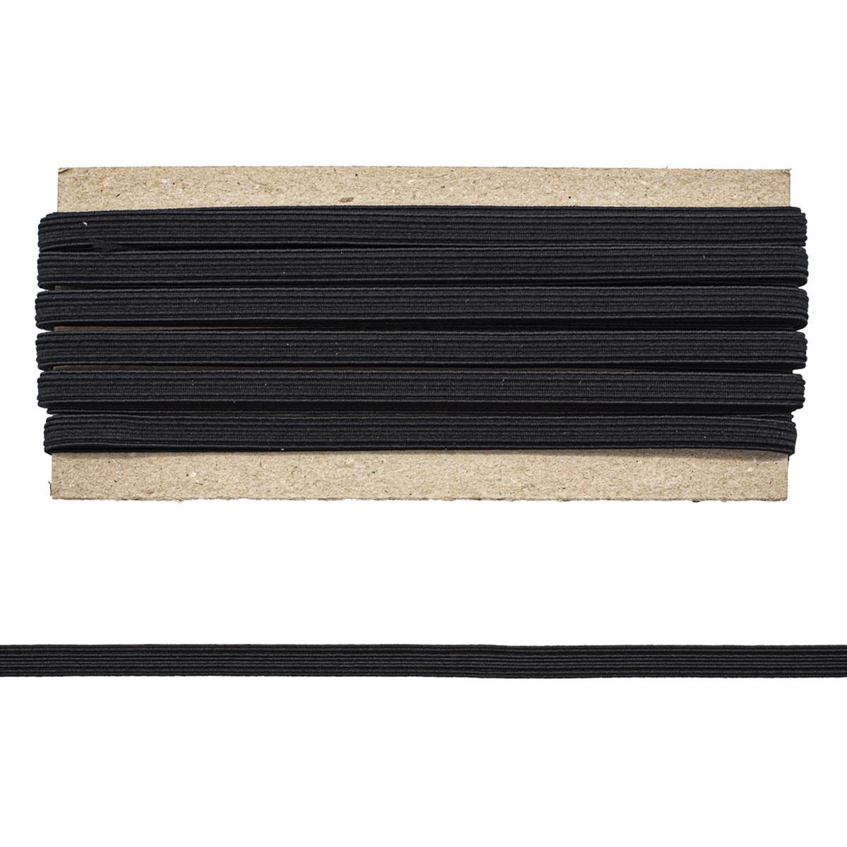 1С27 Тесьма эластичная 8мм 10м черная (Мн)