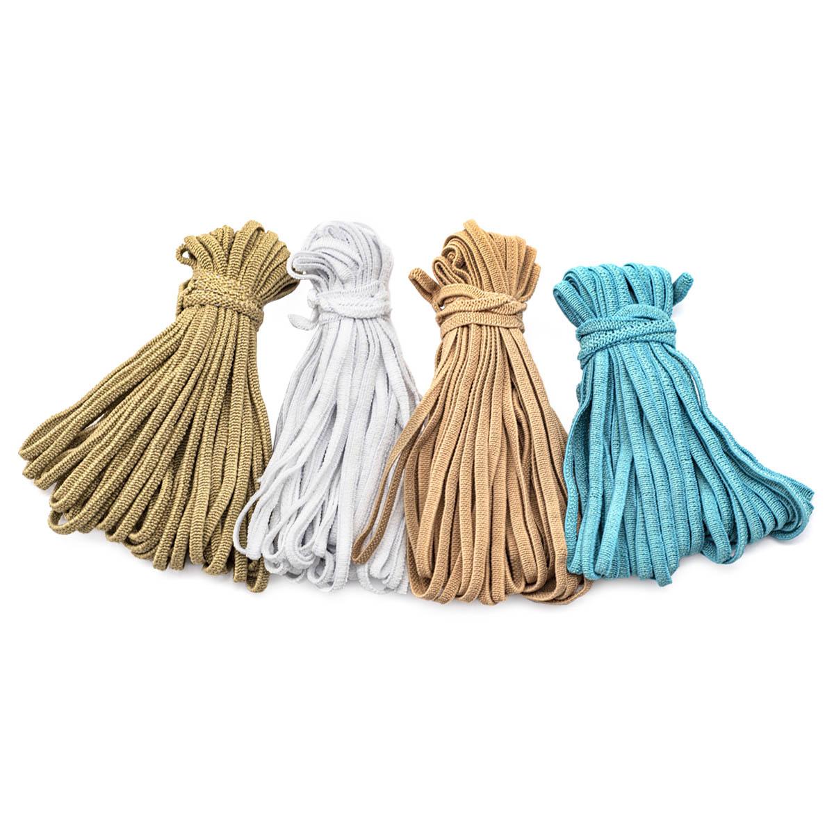 Резинка мягкая масочная 4мм (4*10м), бел., беж, лен, гол.