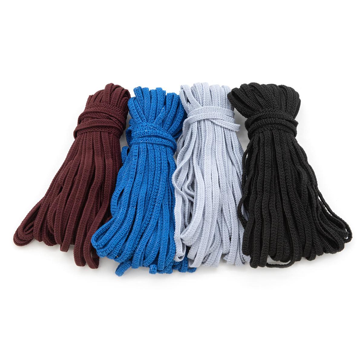 Резинка мягкая масочная 4мм (4*10м), чер., сер., т.бордо, синий