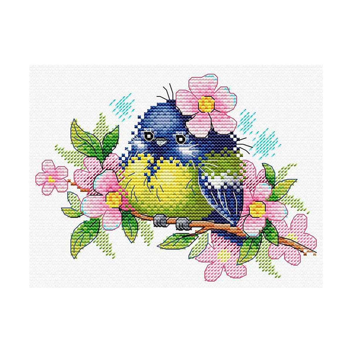 М-554 Набор для вышивания МП Студия 'Романтичная пташка'17*13см