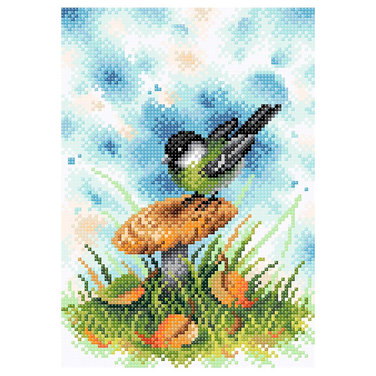 МС 036 Алмазная мозаика 'На грибной опушке'19*27см