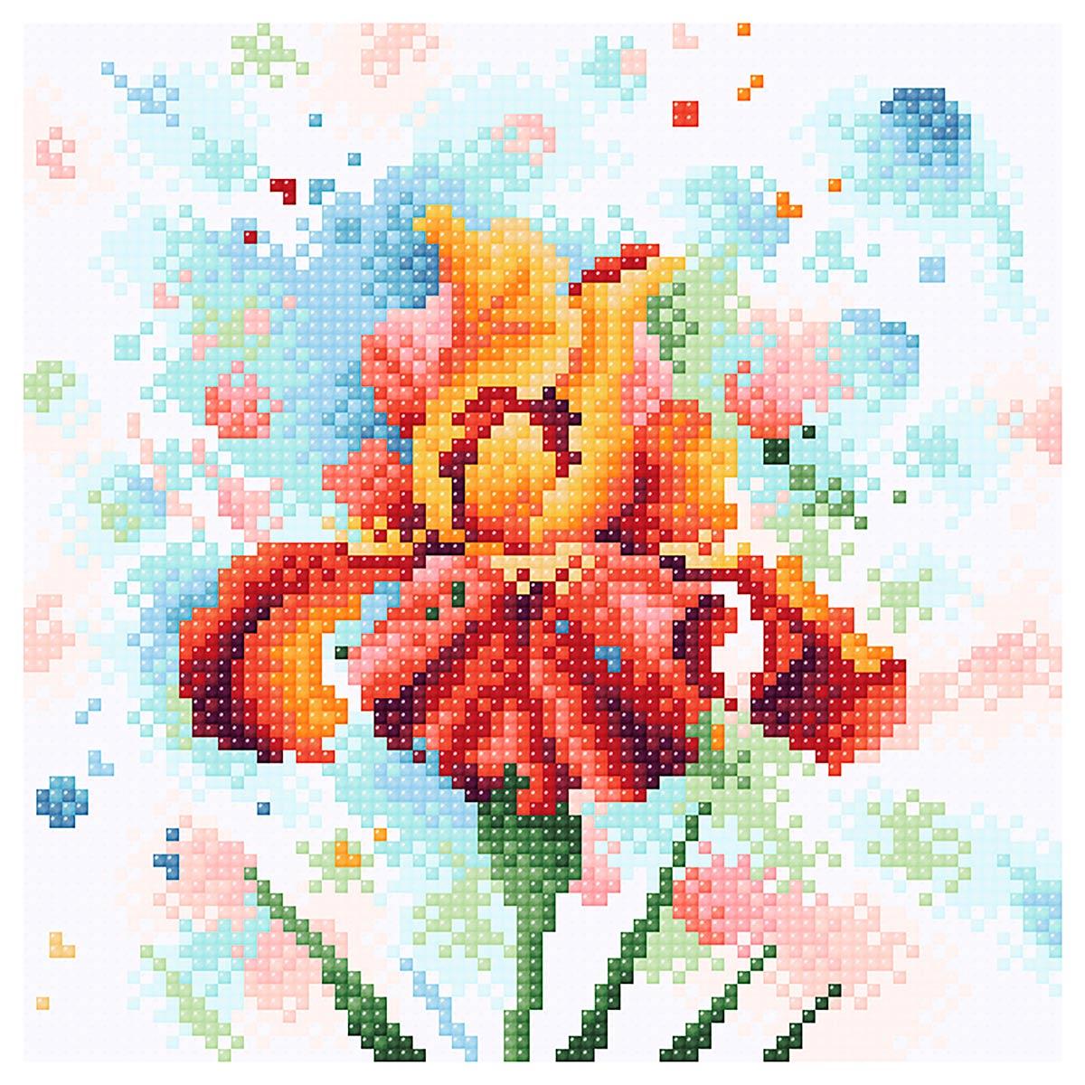МС 038 Алмазная мозаика 'Страстное очарование'20*20см Brilliart