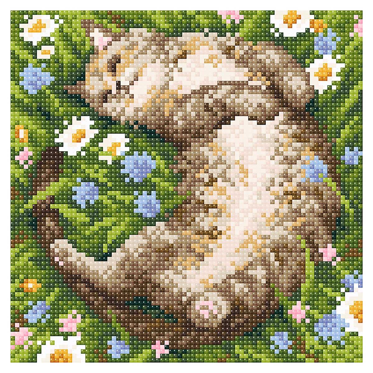 МС 044 Алмазная мозаика 'Ромашковое лето'20*20см Brilliart