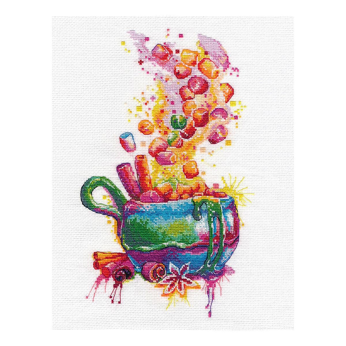 1436 Набор для вышивания ОВЕН 'Волшебный маршмэллоу' 16*27см