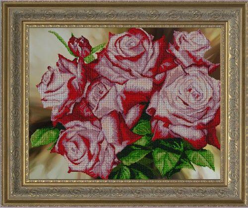 10113 Набор для вышивания бисером Краса и творчество 'Цветочное сияние' 58*46,5 см