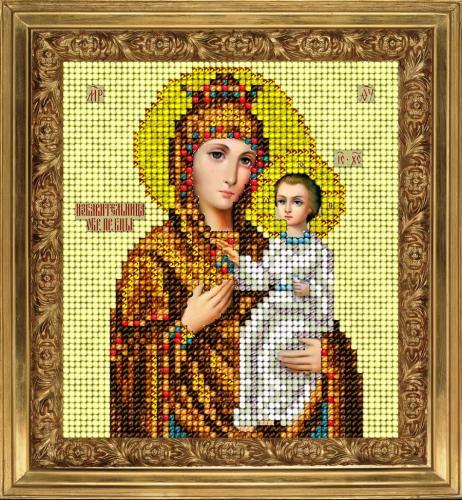 80913 Набор для вышивания ювелирным бисером Краса и творчество 'Избавительница от бед' 9,8*11 см