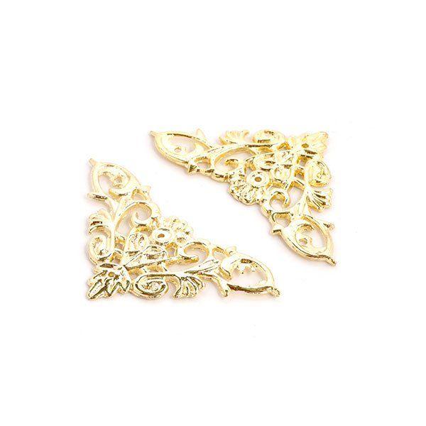SNM-28 Декоративная накладка для шкатулок, 46*46мм, золото (ШНМ28)
