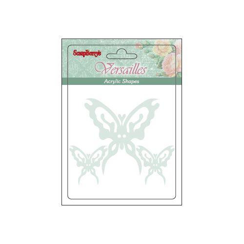 SCB45001001 Акриловые украшения 'Бабочки', от 3 до 6 см, упак./ 3 шт.