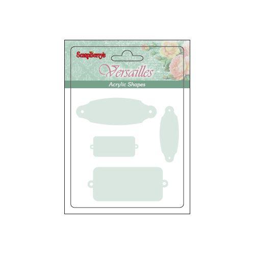 SCB45001004 Акриловые украшения 'Фигурные рамочки', от 1,2 до 5 см, упак./4 шт.