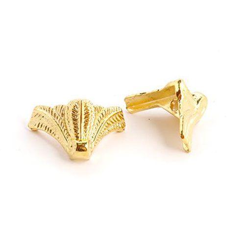 SJM-18 Комплект декоративных ножек для шкатулок, 15*17мм, уп.4шт, золото