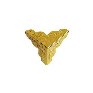 SUM-06 Декоративный уголок для шкатулок, 25*25мм, уп.8шт, золото