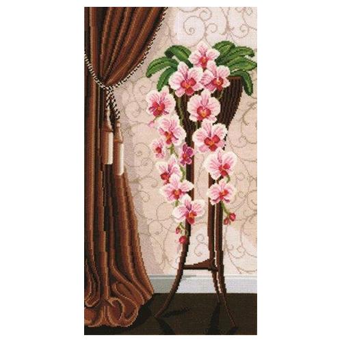 В-13 Набор для вышивания 'Ваза с орхидеями', 29*50 см