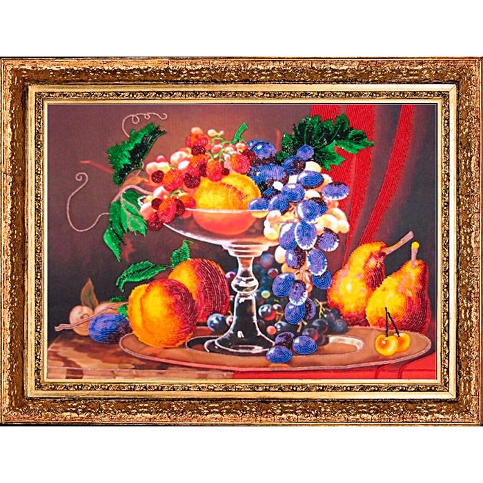 223 Набор для вышивания бисером Butterfly 'Натюрморт с персиками', 36*51 см