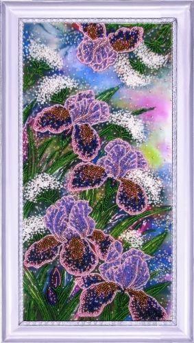 224 Набор для вышивания бисером Butterfly 'Сияющие ирисы', 37*19 см