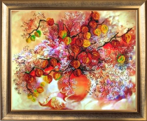 231 Набор для вышивания бисером Butterfly 'Осенние фонарики', 25*32 см
