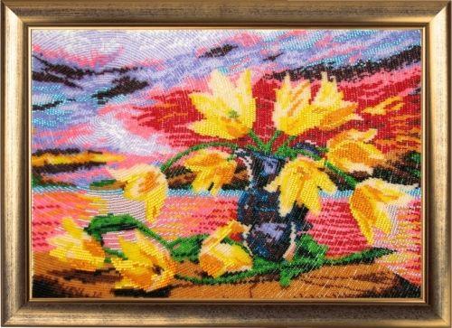 234 Набор для вышивания бисером 'Желтые тюльпаны'
