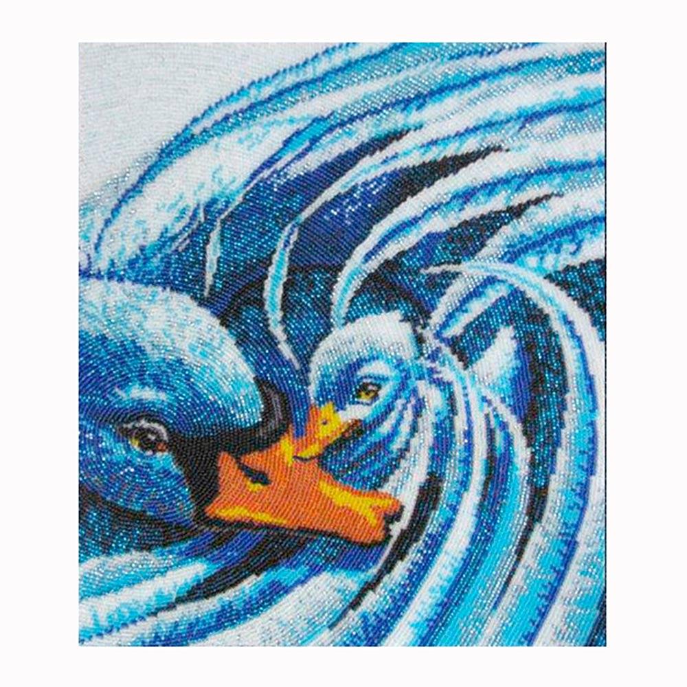 506 Набор для вышивания бисером 'Лебединая нежность', 30*26 см