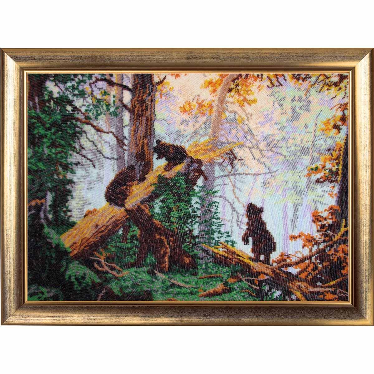 594 Набор для вышивания бисером Butterfly 'Утро в сосновом лесу', 34*49 см