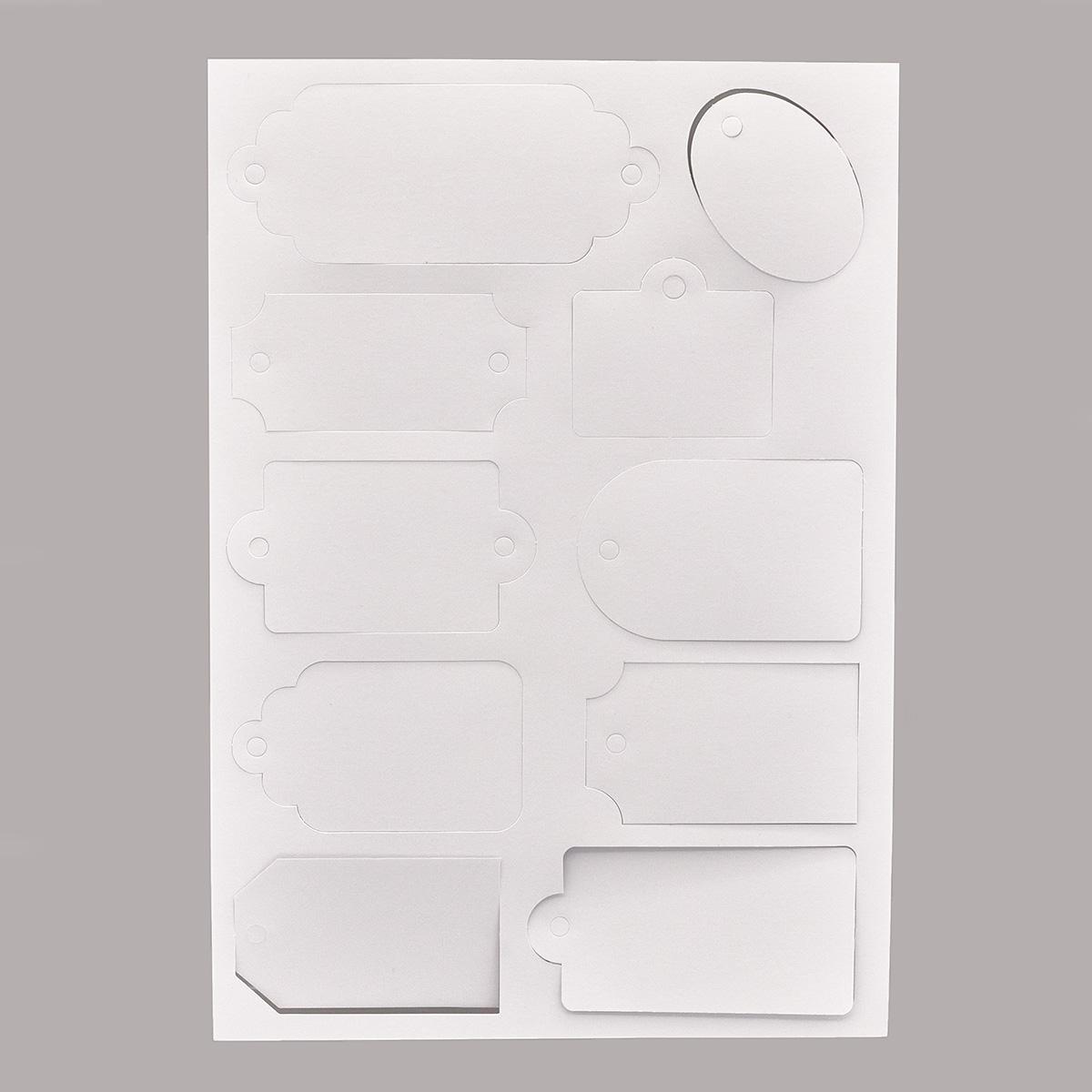 ВФ024 Набор ярлычков, от 6,2*4,3 см до 13*5,2 см, упак./10 шт.