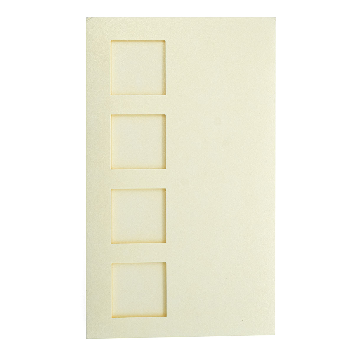 О31 Открытка тройная '4 квадрата', 9,6х16,2 см, упак./3 шт.