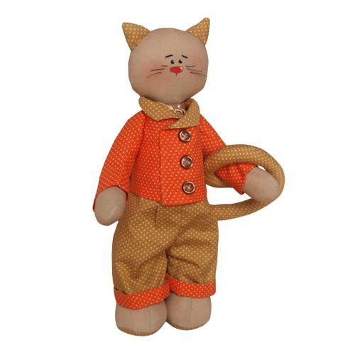 C002 Набор для изготовления текстильной игрушки 27см 'Cat'story' (Ваниль)