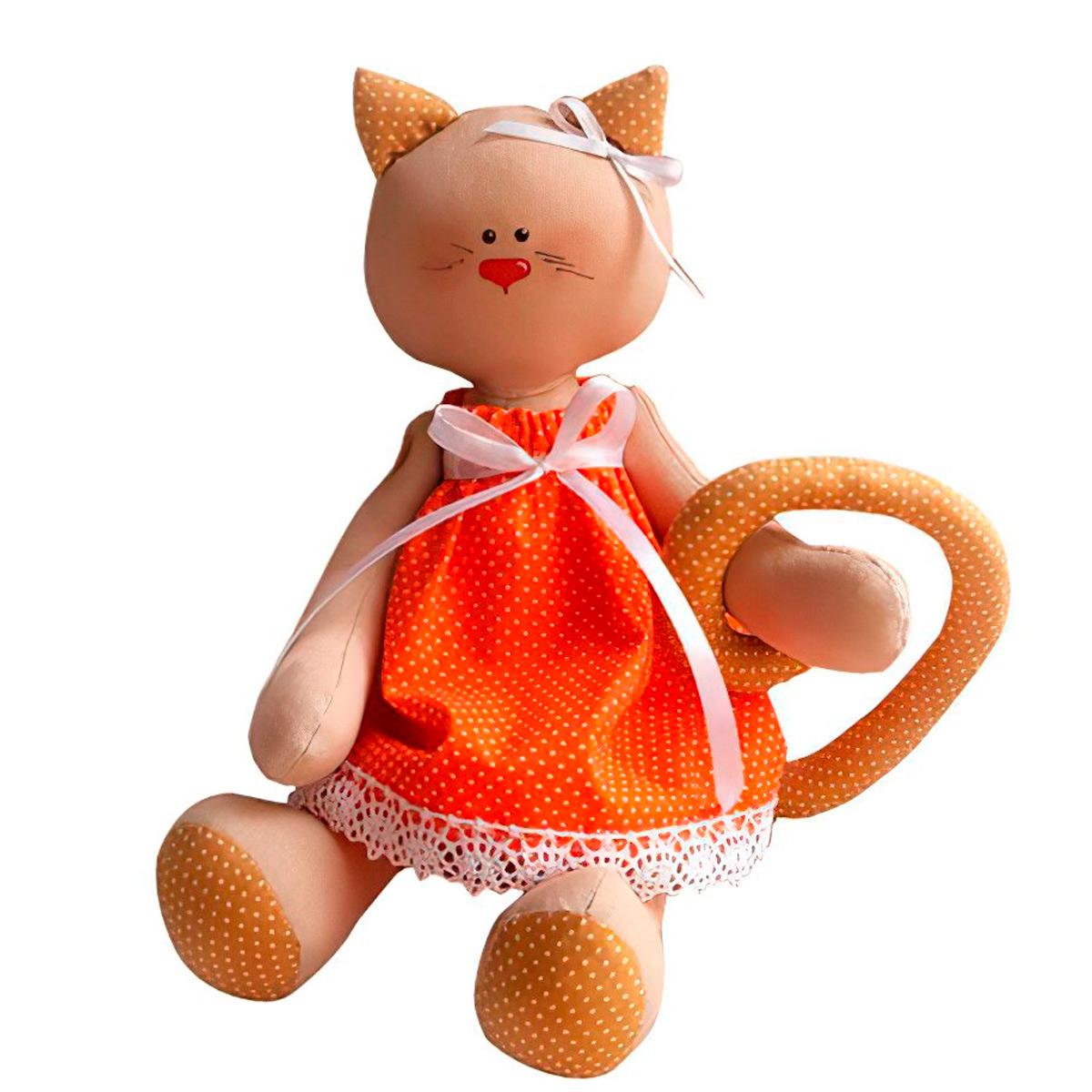 C001 Набор для изготовления текстильной игрушки 27см 'Cat'story' (Ваниль)