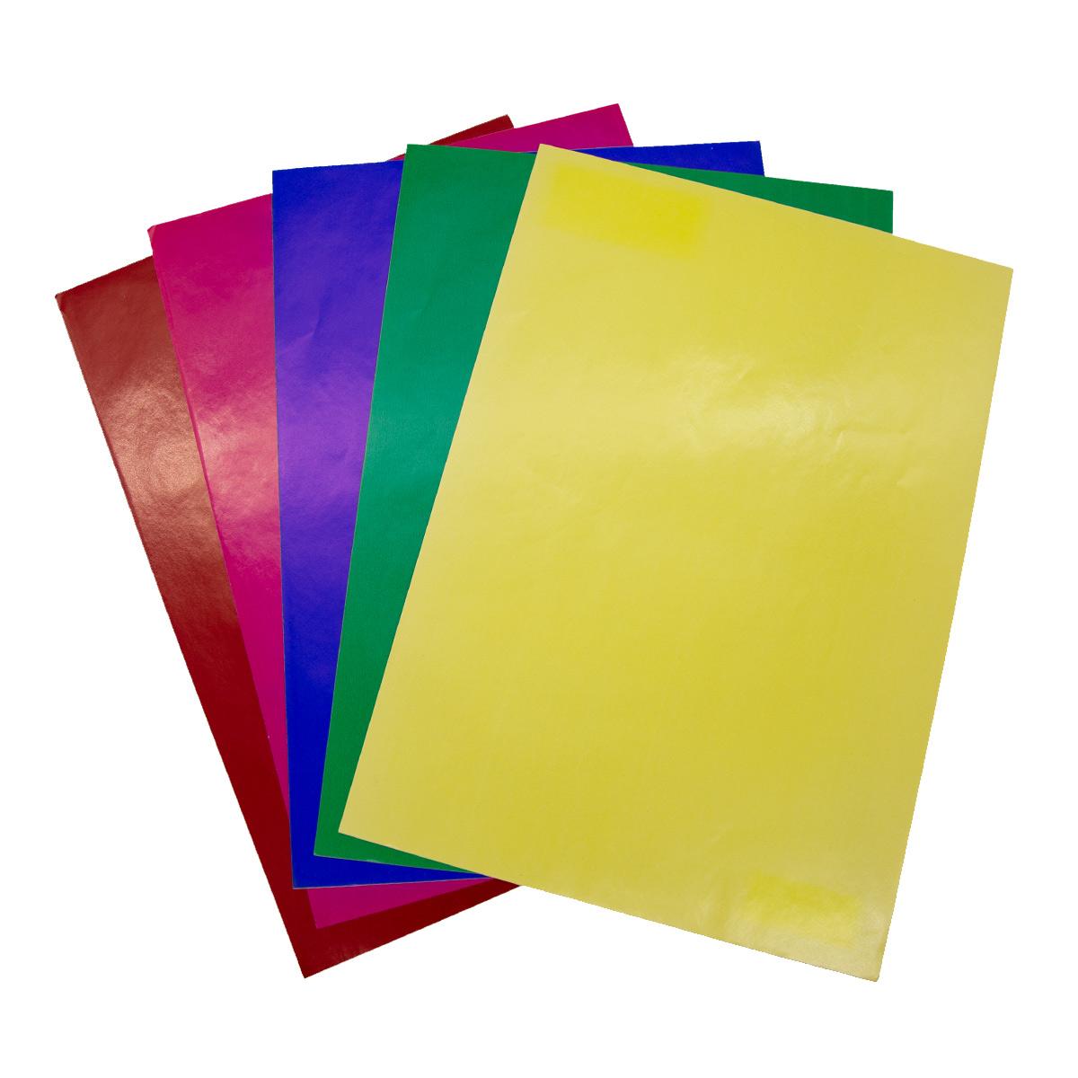 Бумага глянцевая клейкая, 200 гр, упак./5 листов