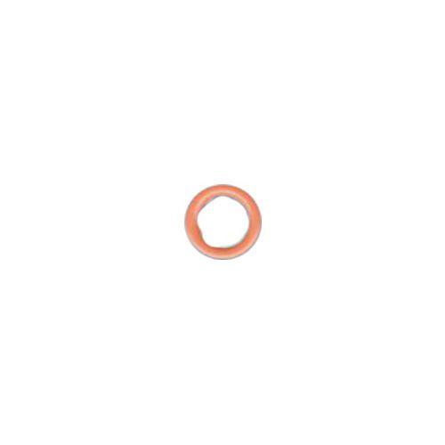 0825/09 Кнопка сороч. б/г коралл. мет (A)