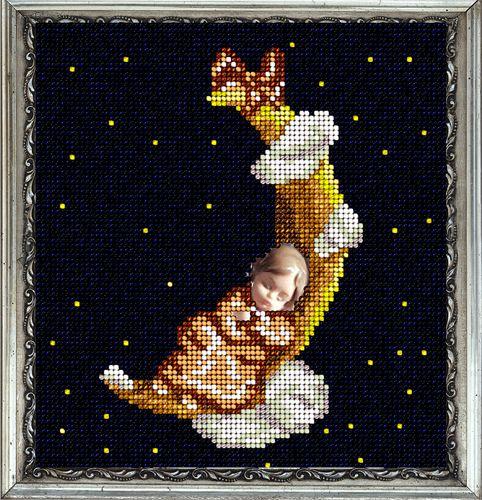 20614 Набор для вышивания ювелирным бисером Краса и творчество 'Цветные сны - она' 14,5*15,7 см