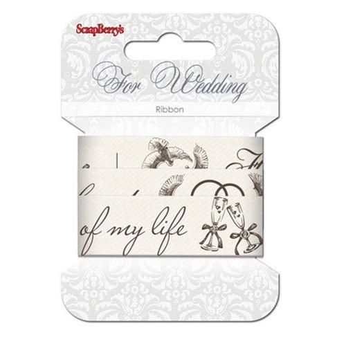 SCB390408 Лента декоративная 'Свадьба', хлопок, 25 мм*2 м