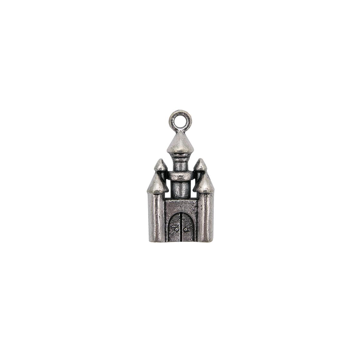 Набор металлических подвесок SCB 250103883 Сказочный замок 14*28мм, 5шт