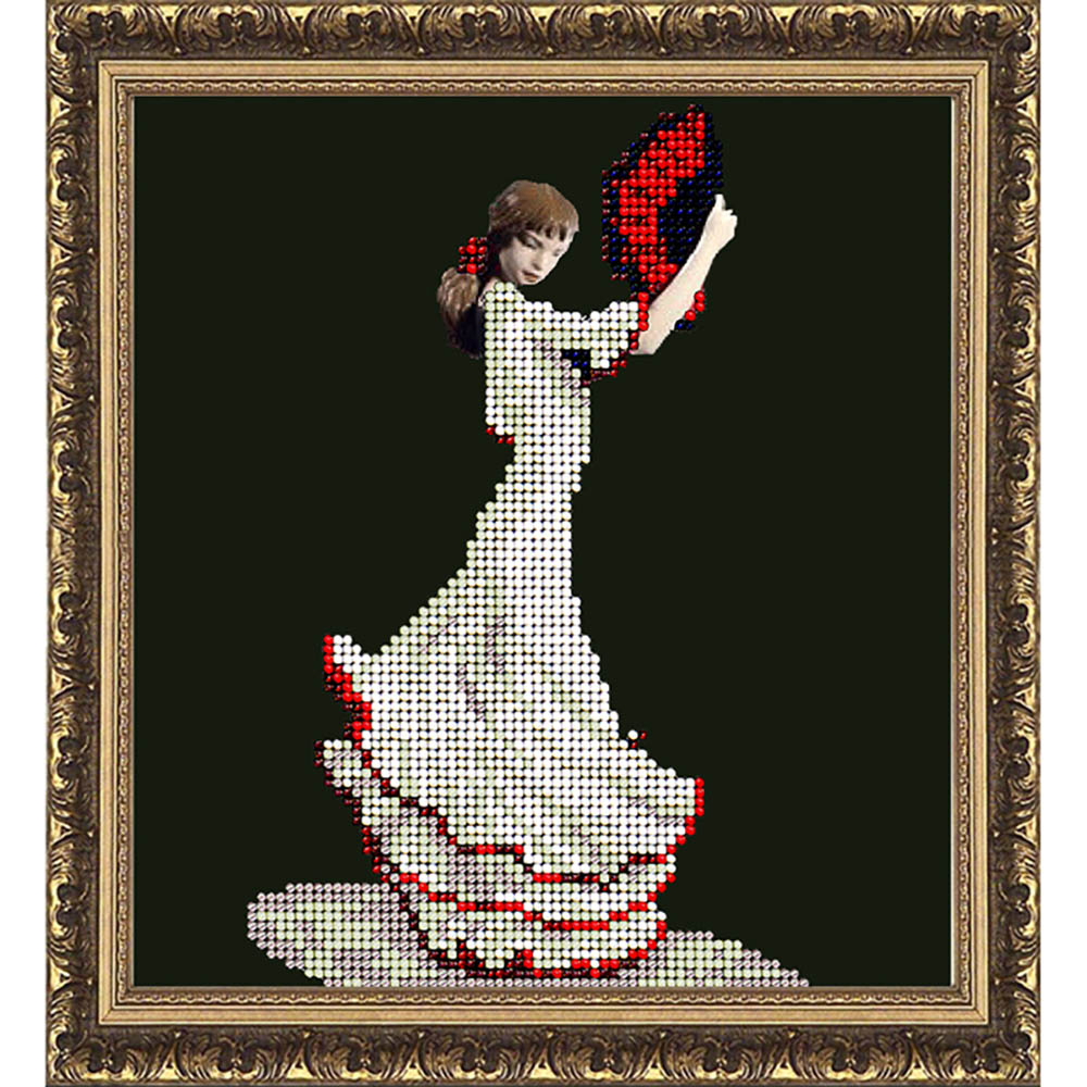 40614 Набор для вышивания ювелирным бисером Краса и творчество 'Танец страсти' 14,8*16,2 см