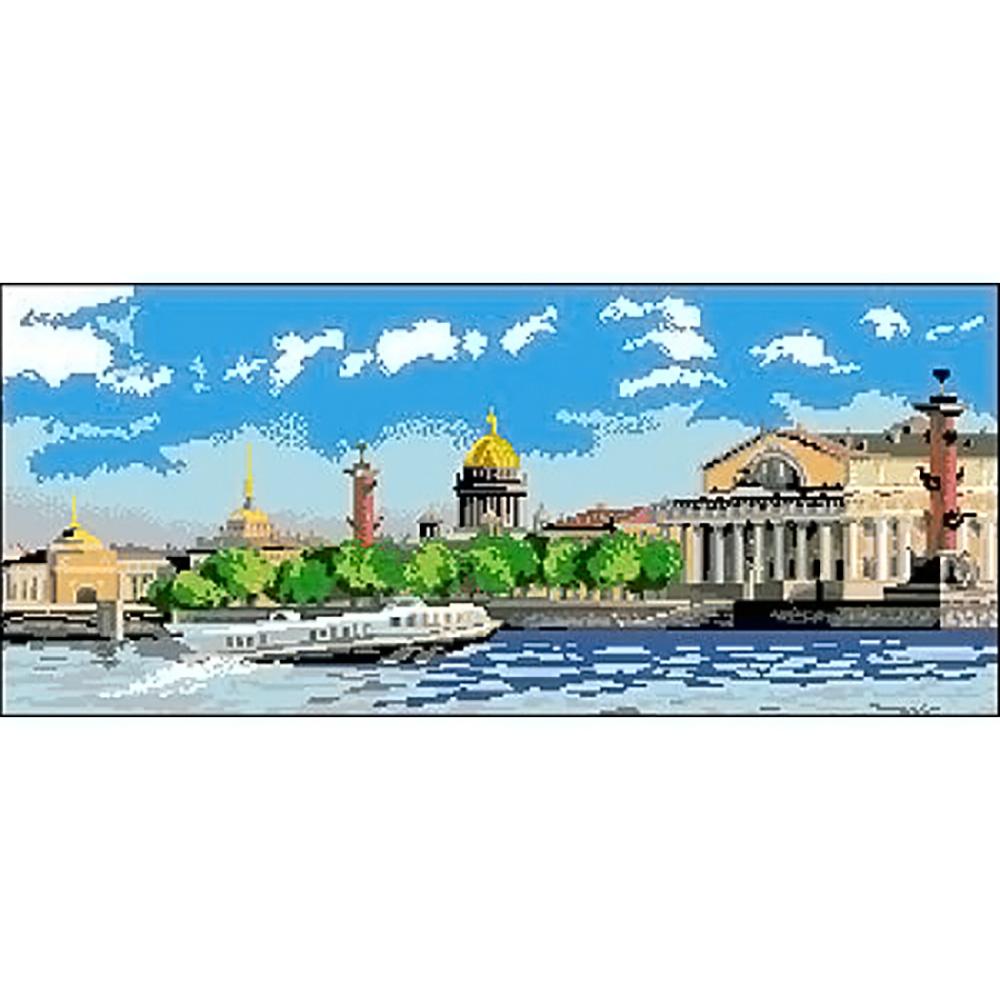 Г-004 Канва с рисунком 'Гелиос' 'Санкт-Петербург', 29х61 см