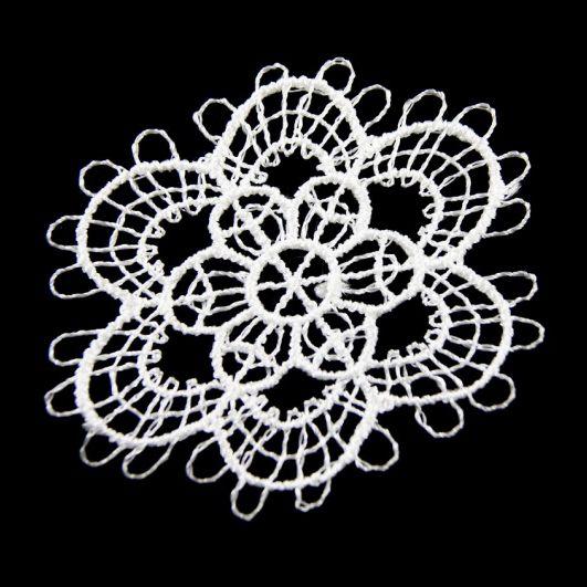 6 Декоративный элемент 'Цветок', вискоза, d=50 мм, упак./2 шт.