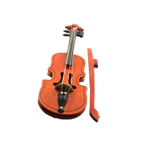 2487378 Скрипка большая со смычком в коробочке, дерево, 60*180 мм