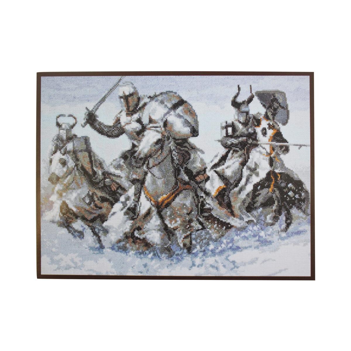 07.008 Набор для вышивания 'Палитра' 'Рыцари', 36*26 см