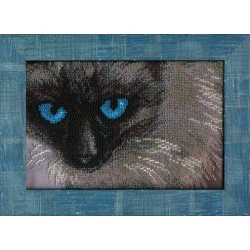 Б-696 Набор для вышивания бисером 'Чарівна Мить' 'Сиамский кот', 22,5*15 см