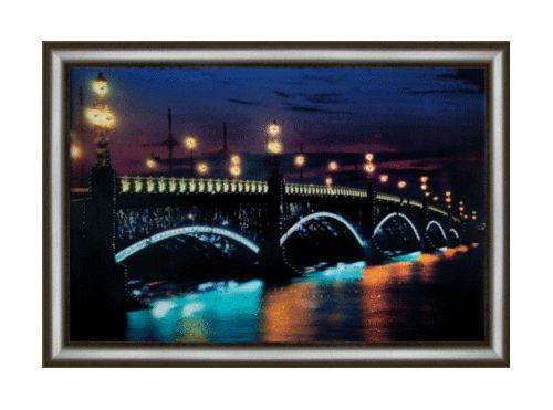 КС098 Набор для изготовления картины со стразами 'Троицкий мост'