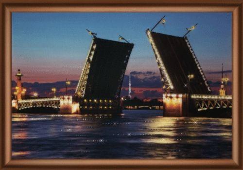 КС142 Набор для изготовления картины со стразами 30,3*42см 'Дворцовый мост'