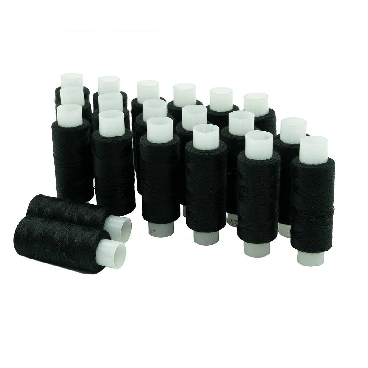 Армированные швейные бытовые нитки 35ЛЛ черные