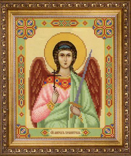 СБ-1001 Схема для вышивания бисером Hobby&Pro Икона 'Ангел Хранитель', 17,7*21,7 см