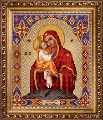 СБ-1003 Схема для вышивания бисером Hobby&Pro Икона Божьей Матери 'Почаевская', 17,7*21,7 см