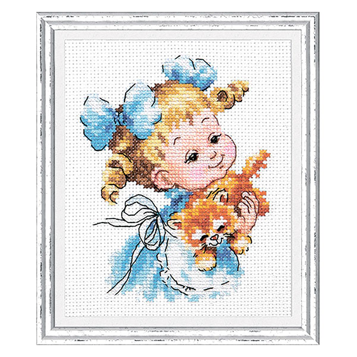 35-20 Набор для вышивания 'Чудесная игла' 'Ты мой маленький!', 10*13 см