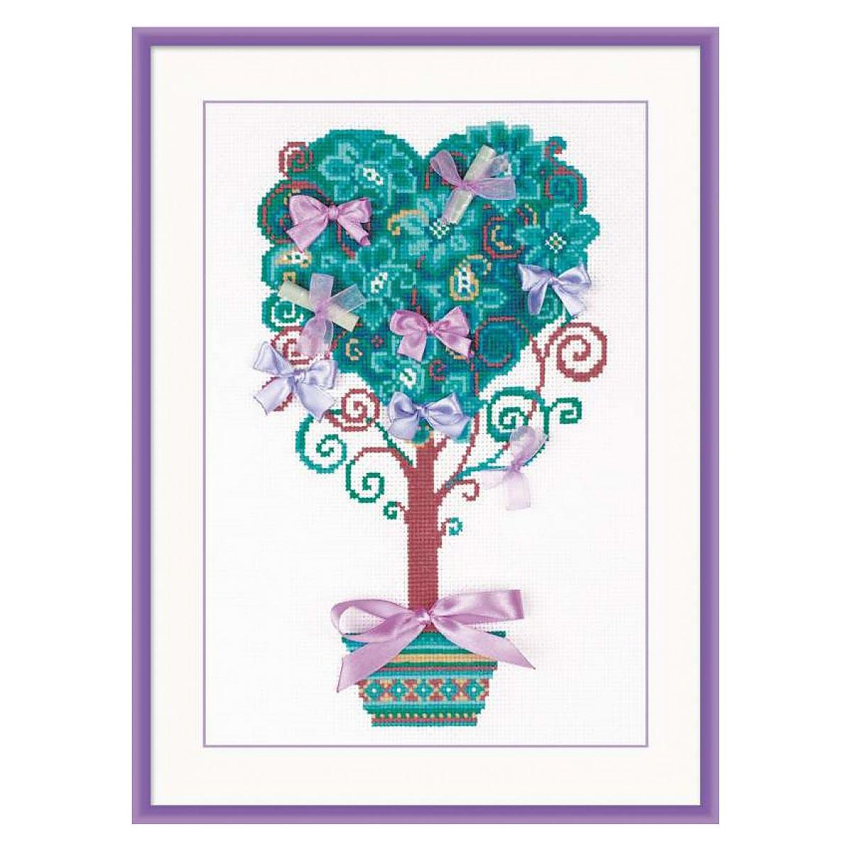 1462 Набор для вышивания Riolis 'Дерево желаний', 21*30 см