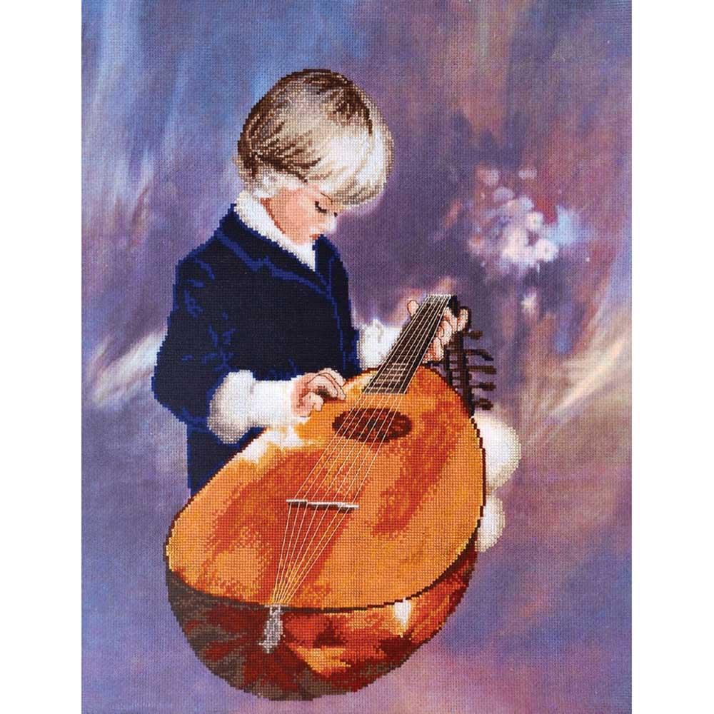 1175 Набор для вышивания Alisena 'Юный музыкант', 42*33 см фото