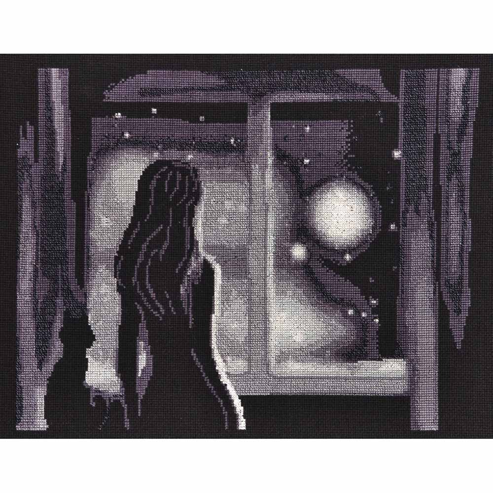 1177 Набор для вышивания Alisena 'Луна в окне', 30*24 см