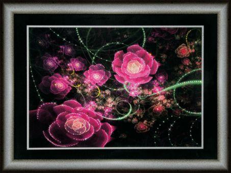 КС103 Набор для изготовления картины со стразами 'Розовое сияние'