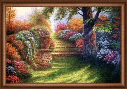КС139 Набор для изготовления картины со стразами 'Дивный сад'